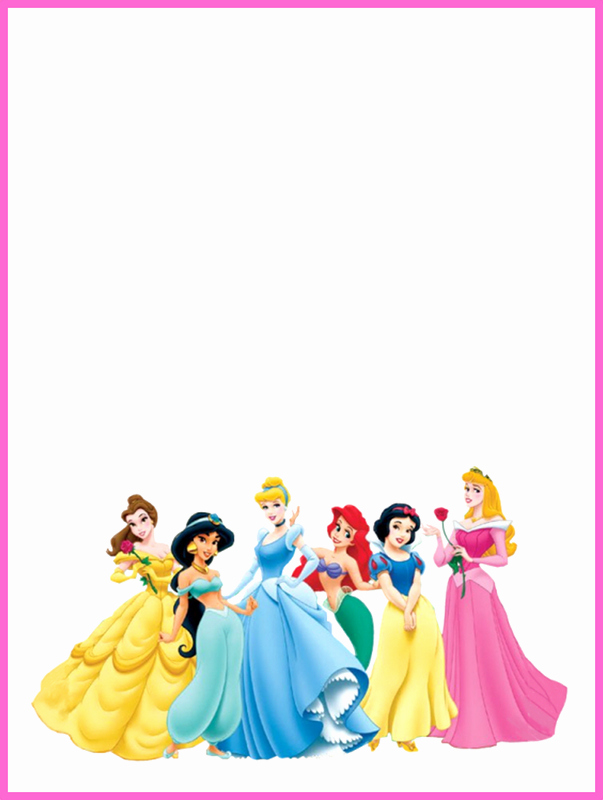Disney Princess Invitation Template Fresh Disney Princess Blank Invitation