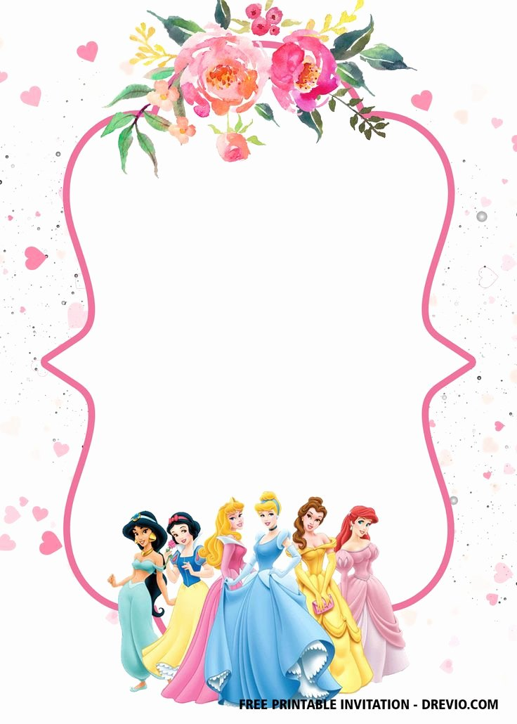 Disney Princess Invitation Template Fresh Free Disney Princess Invitation Template for Your Little Girl S
