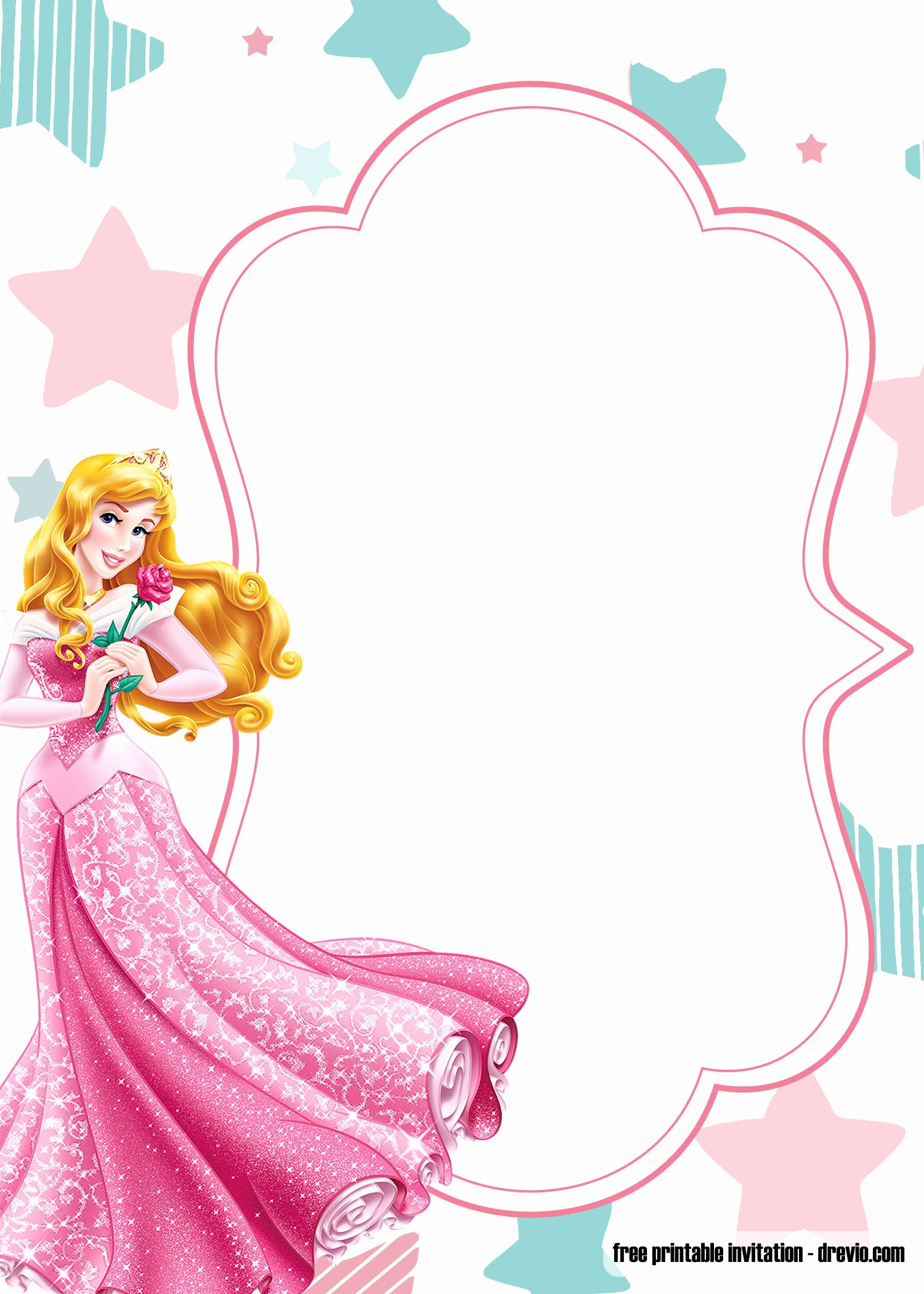 Disney Princess Invitation Template Fresh Free Printable Princess Birthday Invitation Templates Barbie and Disney Princesses Free