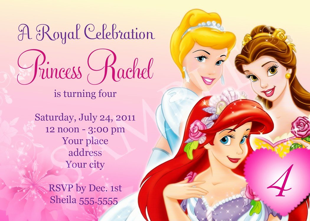 Disney Princess Invitation Template New Free Birthday Party Invitation Templates
