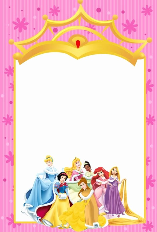 Disney Princess Invitation Template New Free Templates for Princess Party Invitation Cards