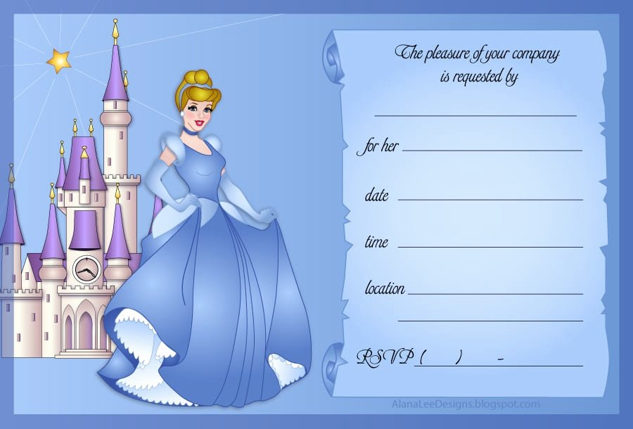 Disney Princess Invitation Template Unique Disney Invitation Template