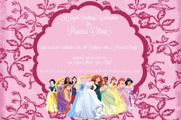 Disney Princess Invitation Template Unique Disney Princess Party Invitation Laura S Crafty Life