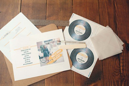 Diy Cd Sleeve Template Awesome Save the Date Ideas Cd Covers A Chair Affair Inc