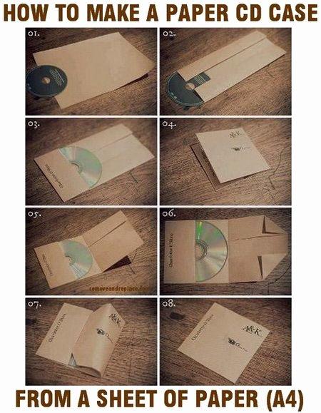 Diy Cd Sleeve Template Elegant How to Make A Cd Case Out Paper Easy Diy Diy Tips Tricks Ideas Repair Pinterest