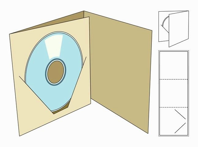 Diy Cd Sleeve Template Lovely Cd Box Template Cd Case Folds