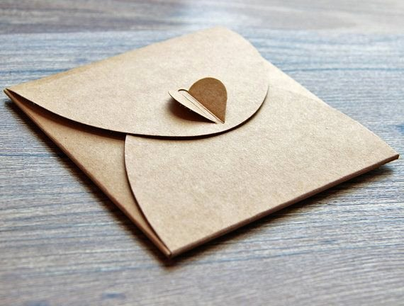 Diy Cd Sleeve Template Lovely Set Of Cd Sleeves Heart button Case Recycled Kraft Cd by Bielyse Packaging