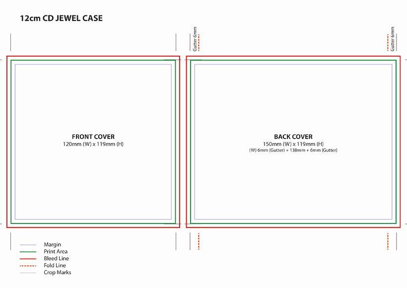 Diy Cd Sleeve Template New Cd Jewel Case Template A4
