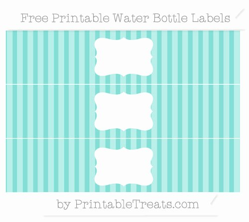 Diy Water Bottle Label Template Awesome Tiffany Blue Striped Diy Water Bottle Labels — Printable Treats