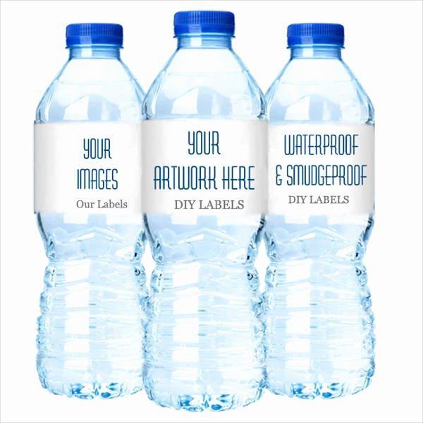 Diy Water Bottle Label Template Best Of 15 Printable Water Bottle Labels