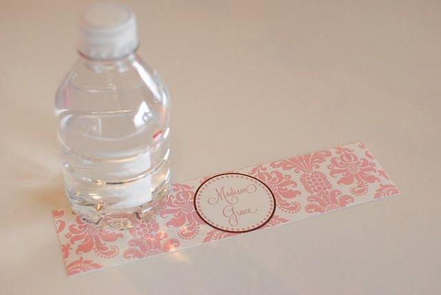 "Diy Water Bottle Label Template Luxury Diy Printable Water Bottle Labels 8oz & 12oz 1 7""x8 25"" 16 9oz 2 375""x8 375"" 20oz 2 5""x9 25"