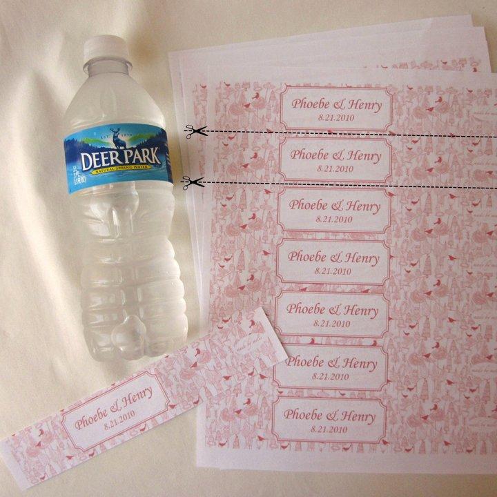 Diy Water Bottle Label Template Luxury Diy Water Bottle Labels