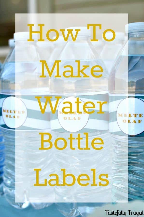 Diy Water Bottle Label Template Luxury Fancy Diy Water Bottle Designs