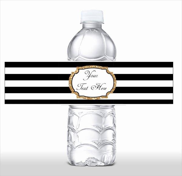 Diy Water Bottle Label Template New 10 Blank Water Bottle Label Templates Free Printable Psd Word Pdf format Download