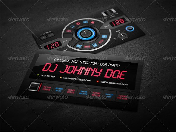 Dj Business Card Template Elegant 18 Dj Business Cards – Free Psd Eps Ai Indesign Word Pdf format Download