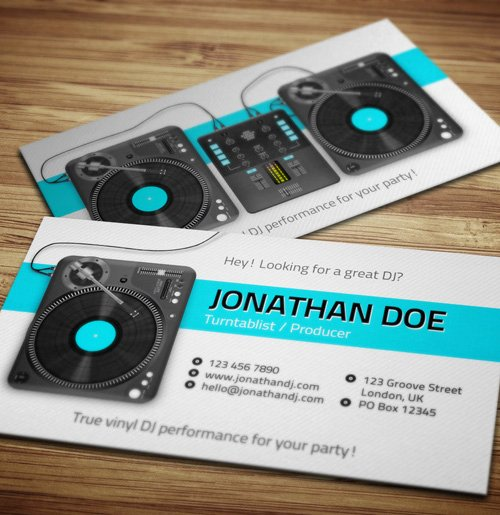 Dj Business Card Template Fresh Amazing Dj Business Cards Psd Templates Design
