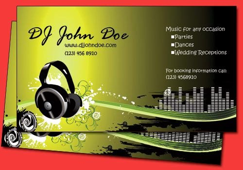 Dj Business Card Template Inspirational 6 Funky Dj Business Card Templates Jnaiti Gmail Pinterest