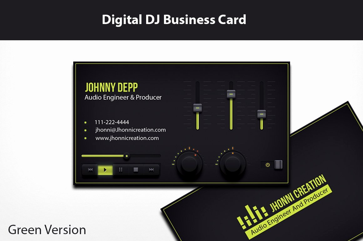 Dj Business Card Template Inspirational Music Producer and Dj Business Card Business Card Templates Creative Market