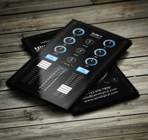 Dj Business Card Template Luxury 11 Amazing Business Card Templates for Dj S