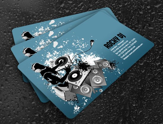 Dj Business Card Template New 100 Free Business Card Templates Designrfix