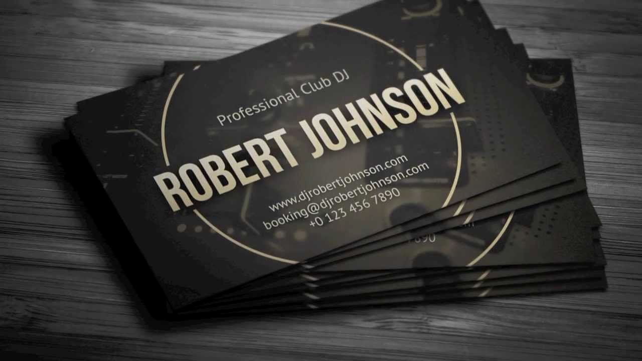 Dj Business Card Template New Professional Dj Business Card Template
