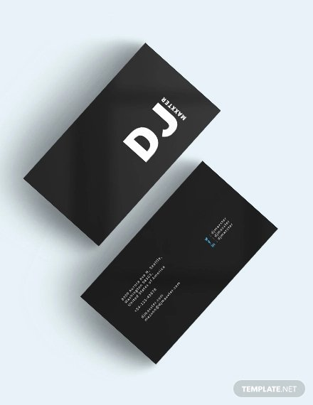 Dj Business Cards Samples Awesome 28 Dj Business Cards Templates Shop Ms Word