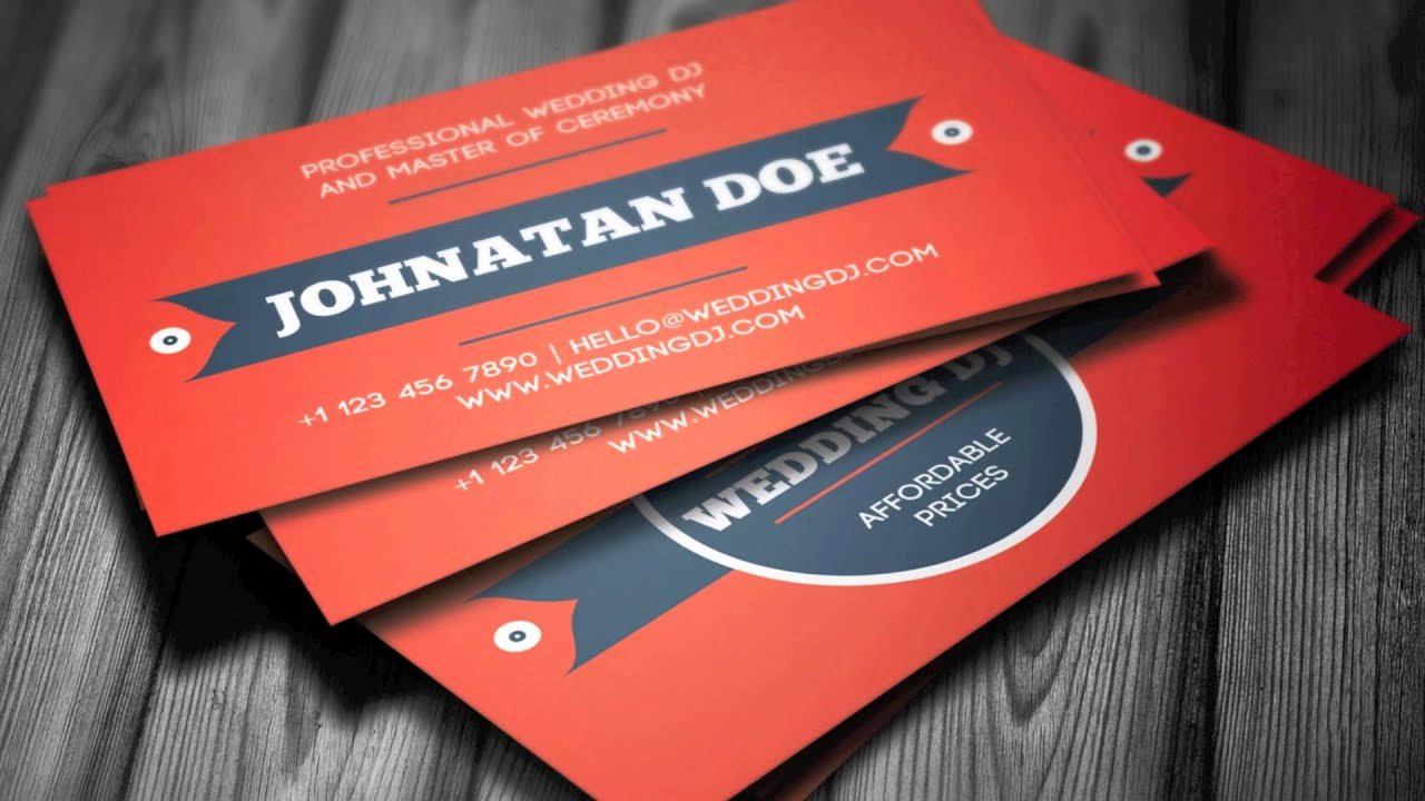 Dj Business Cards Samples Awesome Wedding Dj Business Card Template