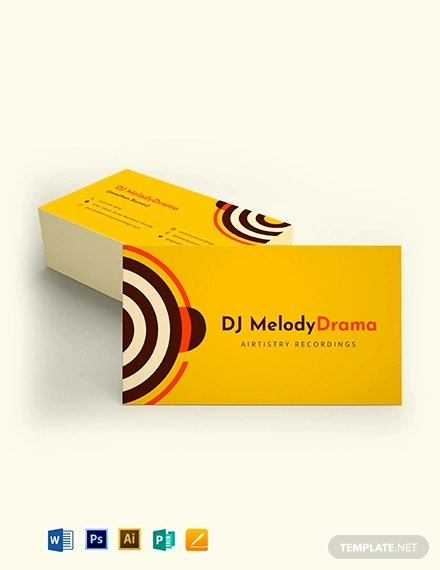 Dj Business Cards Samples Best Of 26 Music Business Card Templates Psd Ai Word