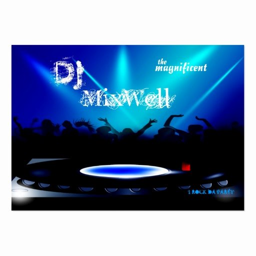 Dj Business Cards Samples Best Of Disc Jockey Dj Party Clubbing Business Card