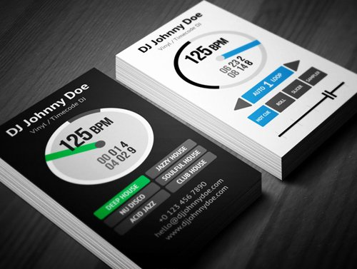 Dj Business Cards Samples Inspirational Amazing Dj Business Cards Psd Templates Design