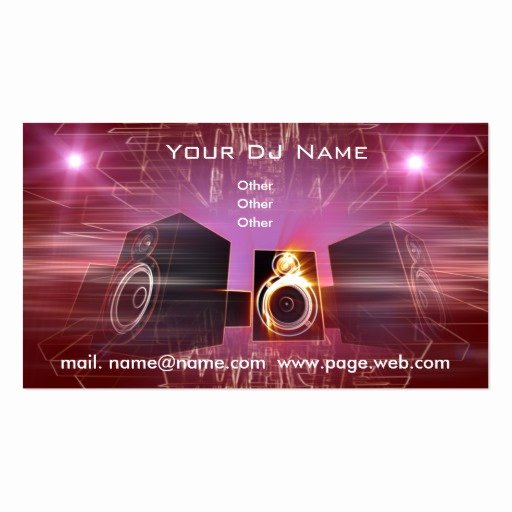 Dj Business Cards Samples Inspirational Business Dj Double Sided Standard Business Cards Pack