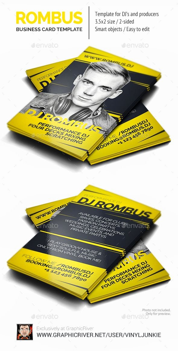 Dj Business Cards Samples Luxury Pin by Best Graphic Design On Business Card Templates