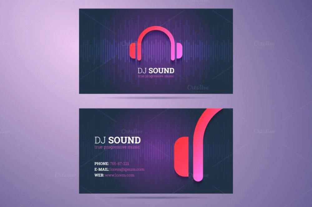 Dj Business Cards Samples Unique Dj Business Card Dj Visiting Card Dj Visiting Card Design
