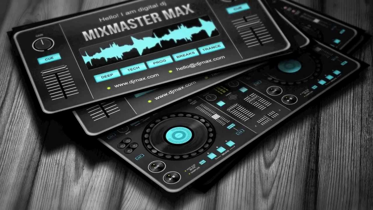 Dj Business Cards Templates Free Awesome Digital Dj Business Card Template