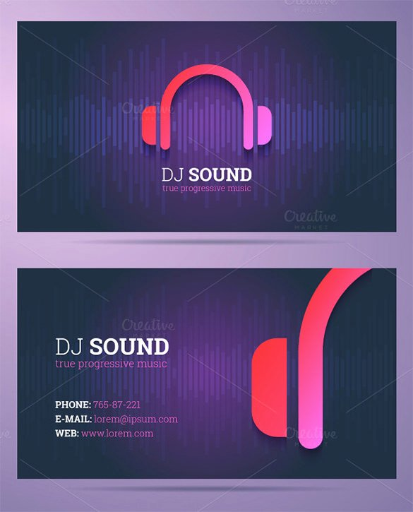 Dj Business Cards Templates Free Beautiful 18 Dj Business Cards – Free Psd Eps Ai Indesign Word Pdf format Download