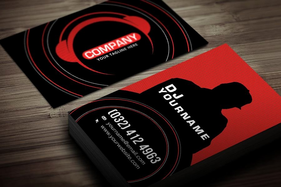 Dj Business Cards Templates Free Best Of Dj Business Card Template Free Business Card Template