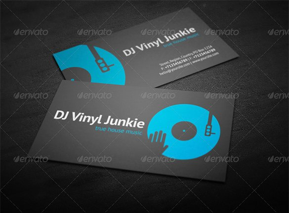 Dj Business Cards Templates Free Inspirational 28 Dj Business Cards Templates Shop Ms Word Publisher Ai