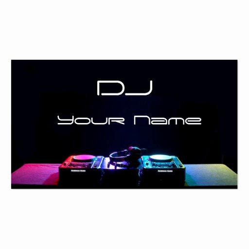 Dj Business Cards Templates Free Inspirational Dj Business Card