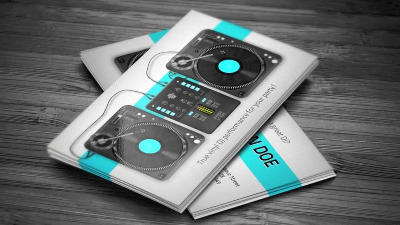 Dj Business Cards Templates Free Unique Turntablist Dj Business Card Template