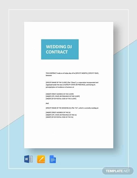 Dj Contract Template Microsoft Word Awesome Sample Dj Contract 14 Examples In Word Pdf Google Docs Apple Pages