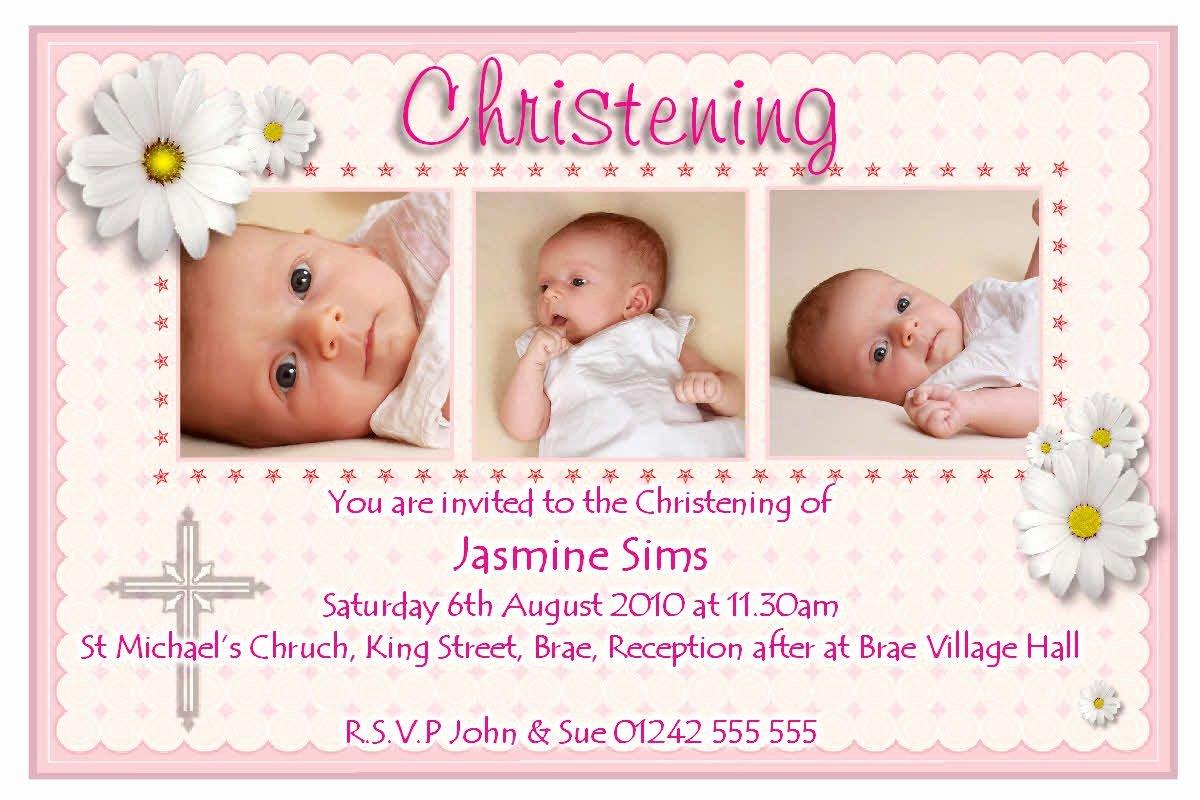 Do It Yourself Baptism Invitation Elegant Baby Christening Invitations Wording Baby Baptism
