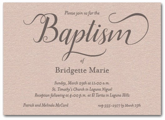 Do It Yourself Baptism Invitation Fresh Fanciful Baptism Invitations On Shimmery Mink Paper