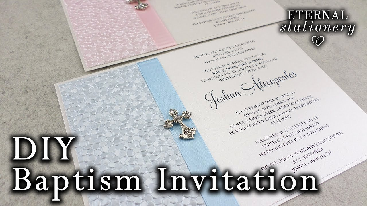 Do It Yourself Baptism Invitation Fresh Very Easy Diy Embossed Baptism Christening Invitation