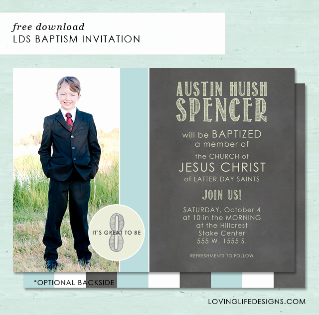Do It Yourself Baptism Invitation Luxury A Load Craft Lds Baptism Invitation Free