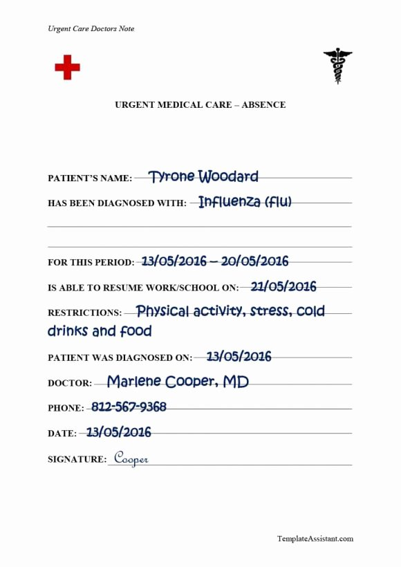 Doctor Note for School Absence Elegant 40 Fake Doctors Note Template Download [pdf Doc]