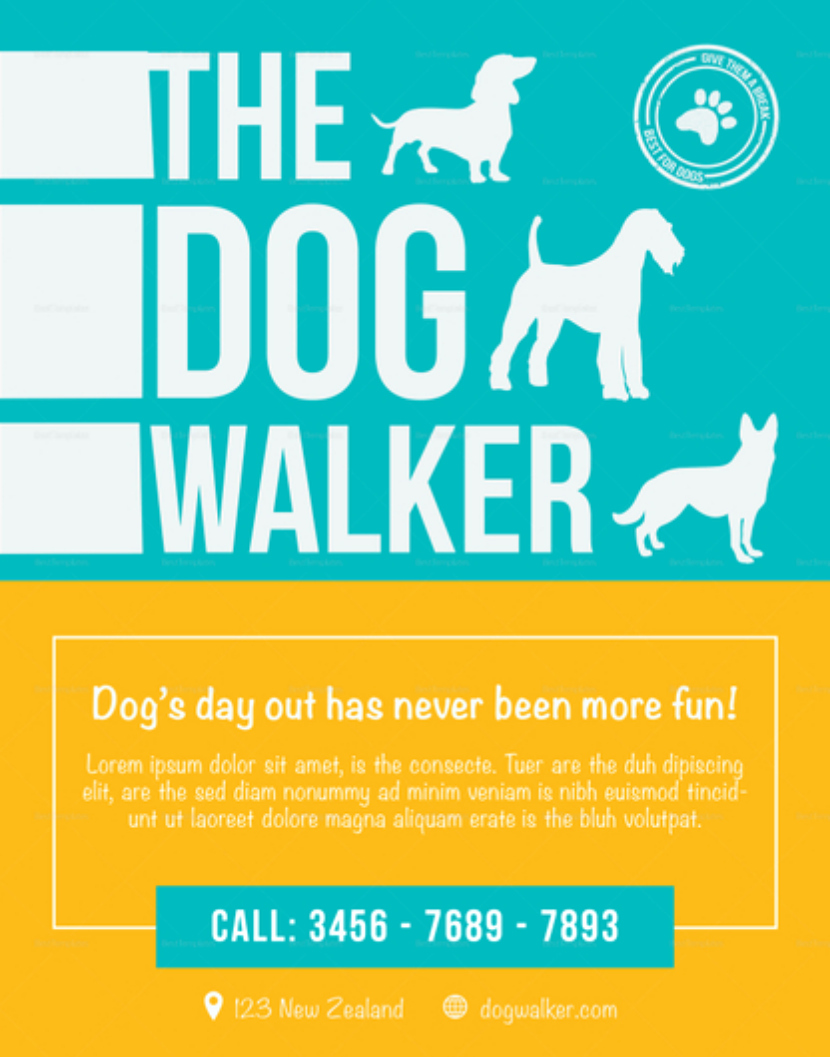Dog Walking Flyer Template Beautiful Effective Dog Walking Flyer Design and Content Tips