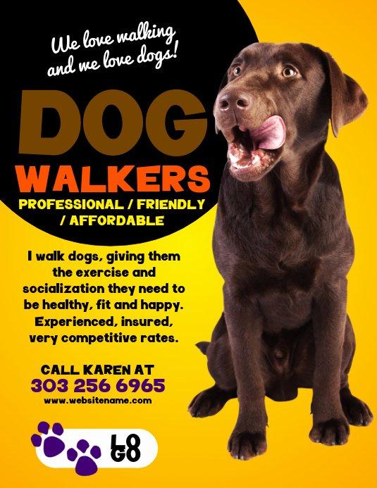 Dog Walking Flyer Template Best Of Dog Walkers Flyer Template