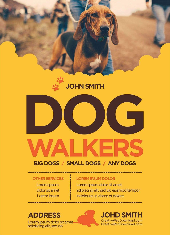 Dog Walking Flyer Template Fresh Creative Dog Walkers Flyer Template