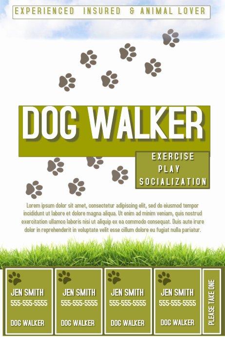 Dog Walking Flyer Template Inspirational Dog Walker Template