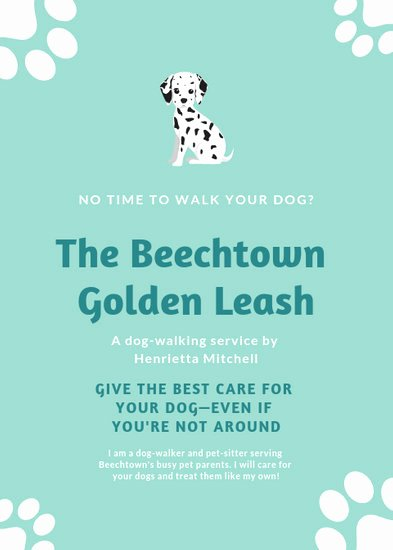 Dog Walking Flyer Template Lovely Customize 66 Dog Walker Flyer Templates Online Canva